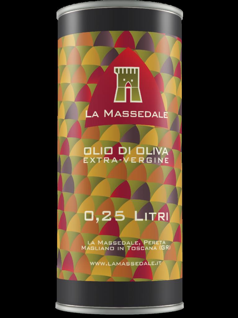 OLIO EXTRAVERGINE D'OLIVA DI MAGLIANO IN TOSCANA - 6 LATTE DA 0,25L